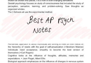 19996AP PSYCHOLOGY NOTES (EVERYTHİNG YOU NEED TO KNOW TO GET A 5!)