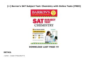 22070Barron's Chemistry SAT Subject Test Review Book 11th Edition PDF